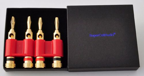 Dual Banana Plug set of 2, red.