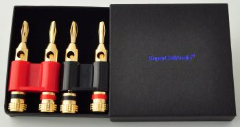 Dual Banana Plug set of 2, 1 red, 1 black.