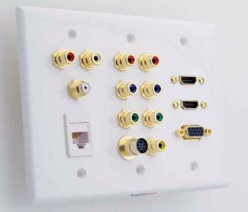 HDMI component s-video VGA data wall plate