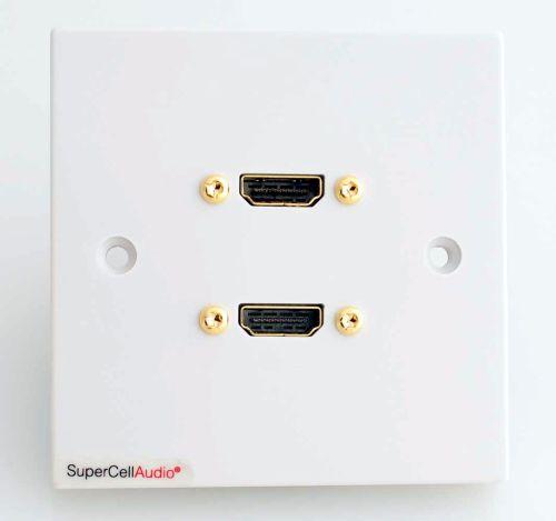 Dual HDMI wall plate