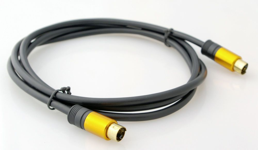 s-Video (DIN) Male-Male Cable 5 ft (1.5 m)
