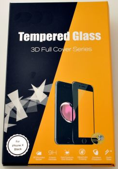 for iPhone X High Quality Tempered Glass Cover #TGC-3D-X