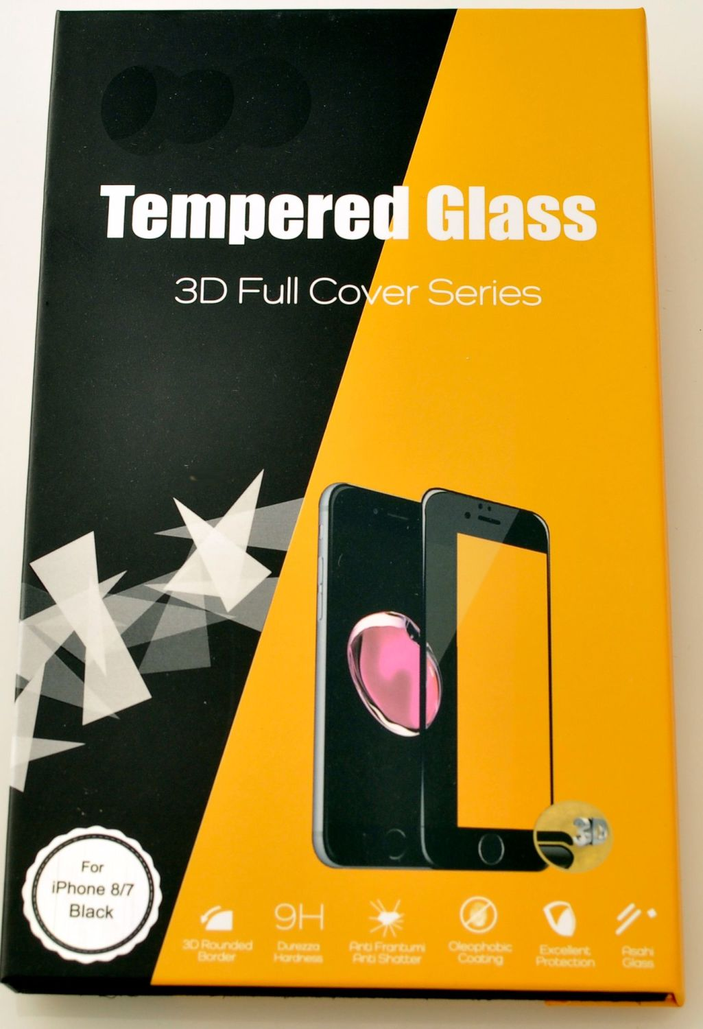 Tempered Glass 3D Cover for iPhone 8 / 7. #TGC-3D-8/7