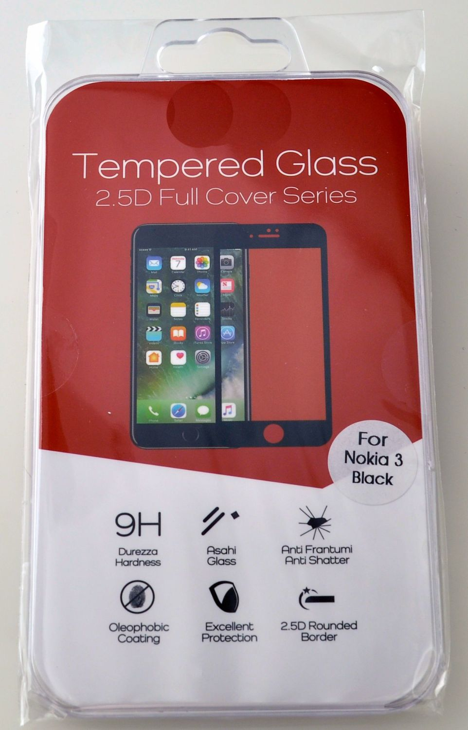 High Quality Tempered Glass Cover for Nokia 3 #TGC-2.5-N3
