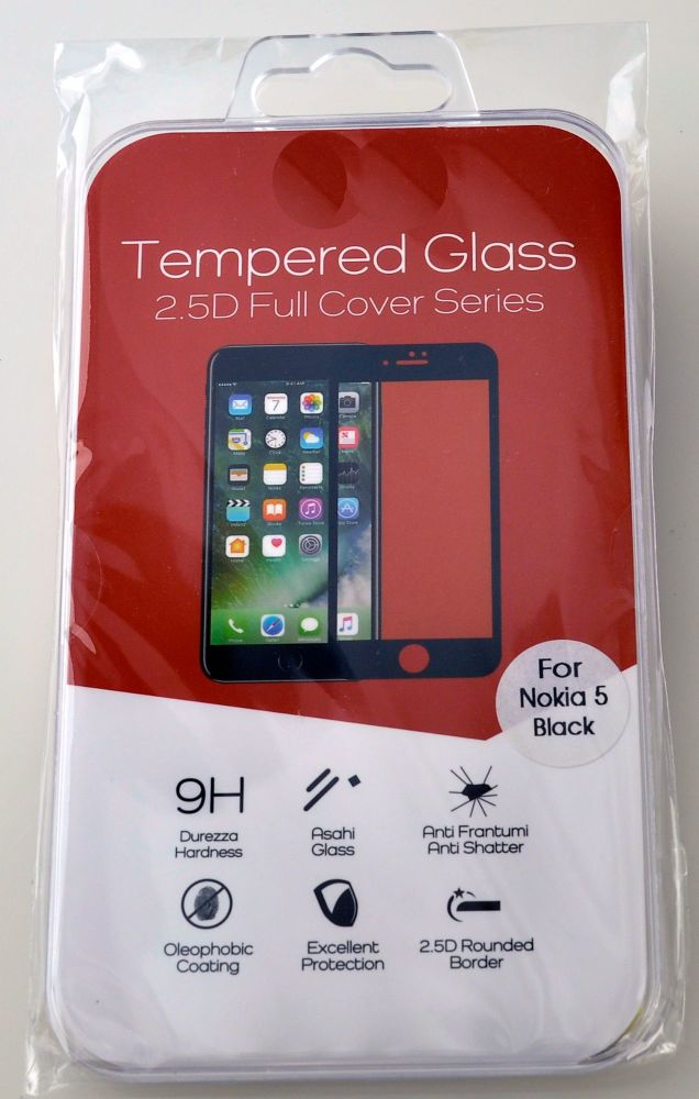Hi Quality Tempered Glass Cover for Nokia 5 #TGC-2.5-N5