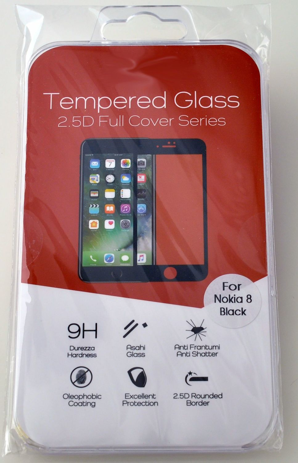 High Quality Tempered Glass Screen Cover for Nokia 8 #TGC-2.5-N8