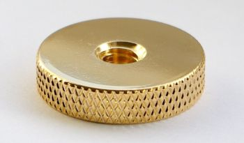 Disk with threaded recess, gold plated #TD-1420-G