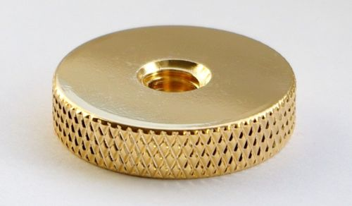 Gold plated disk with threaded recess Cat#TD.25.G.1/4-20