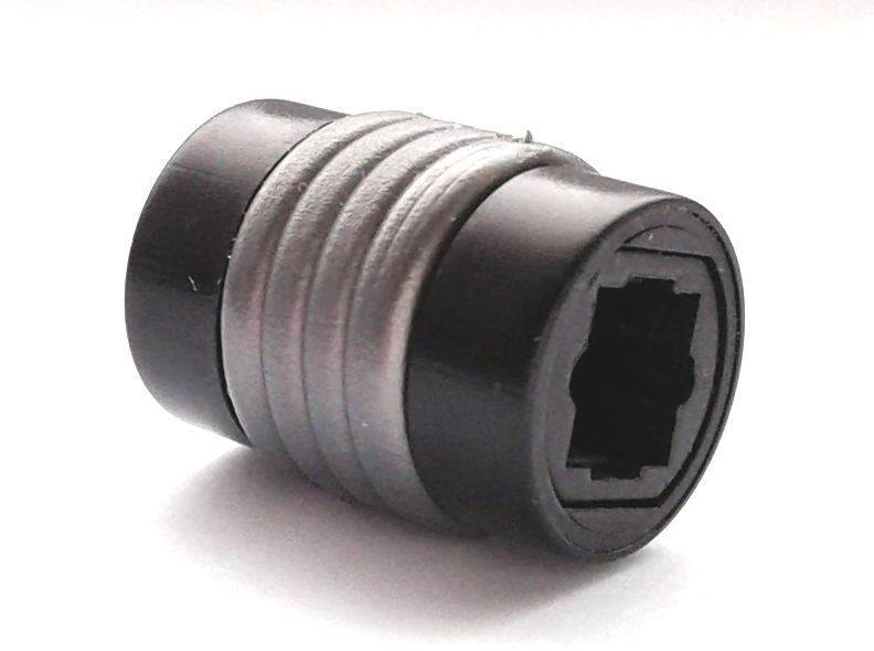 Toslink/optical female-to female connector
