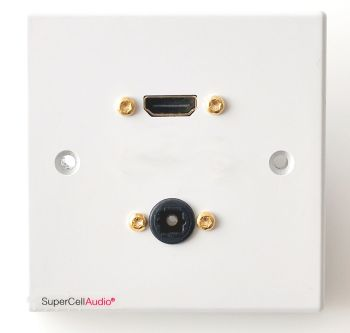 Wall plate audio video HDMI Toslink #UK.01.H.T.