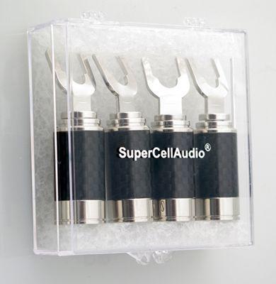Rhodium plated spaeker spades