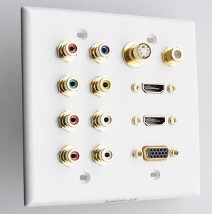 2g wall plate audio video HDMi sVGA coax s-Video
