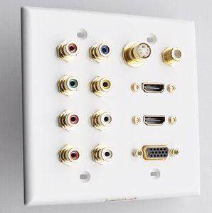 2g wall plate audio video HDMi sVGA coax s-Video