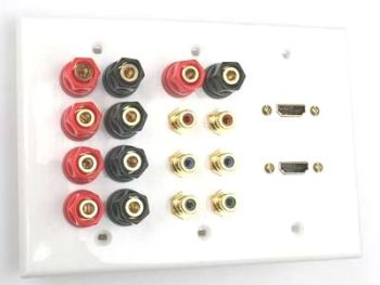 3g HDMI speakers component wall plate