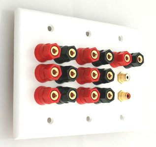 Home theater 7.2 speaker wall plate