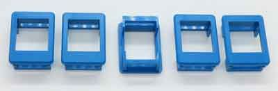 Plastic frame for Keystone modules installation. Blue, set of 5. #KF-BLU-5