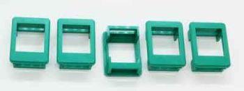 Plastic frame for keystone modules installation, set of 5, green. #KF-GRN-5