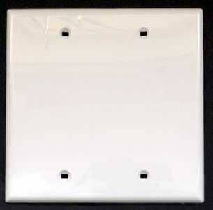 Blank wall plate 2G, unbreakable, by Leviton