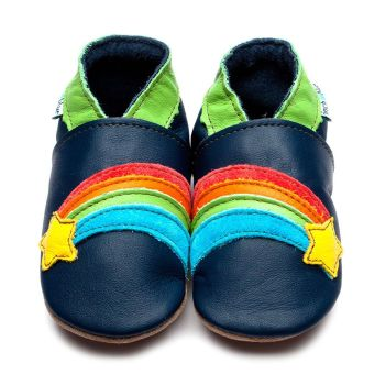 Inch Blue Navy Rainbow Star Shoes