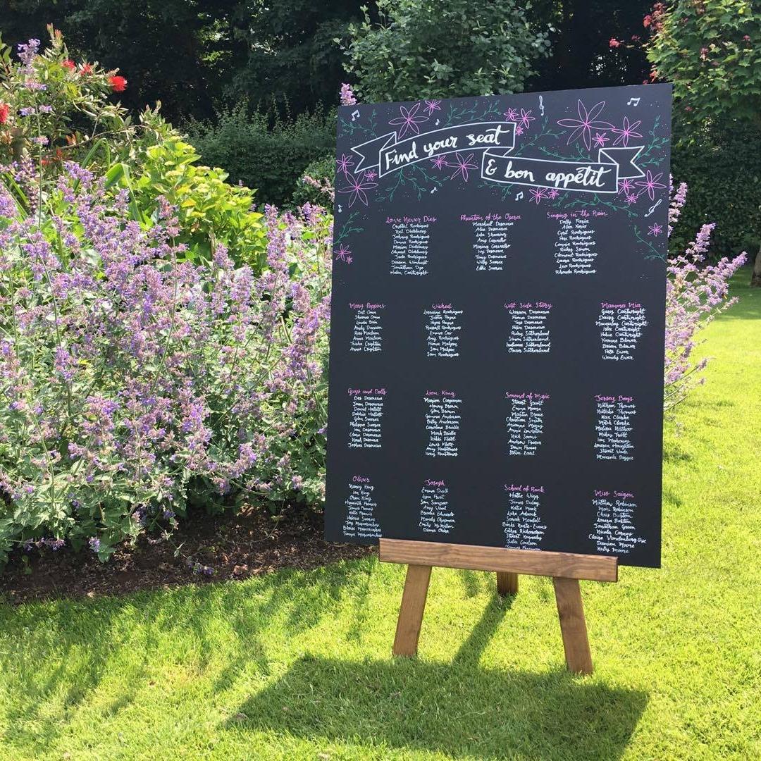 chalkboard chair backs Mr and Mrs