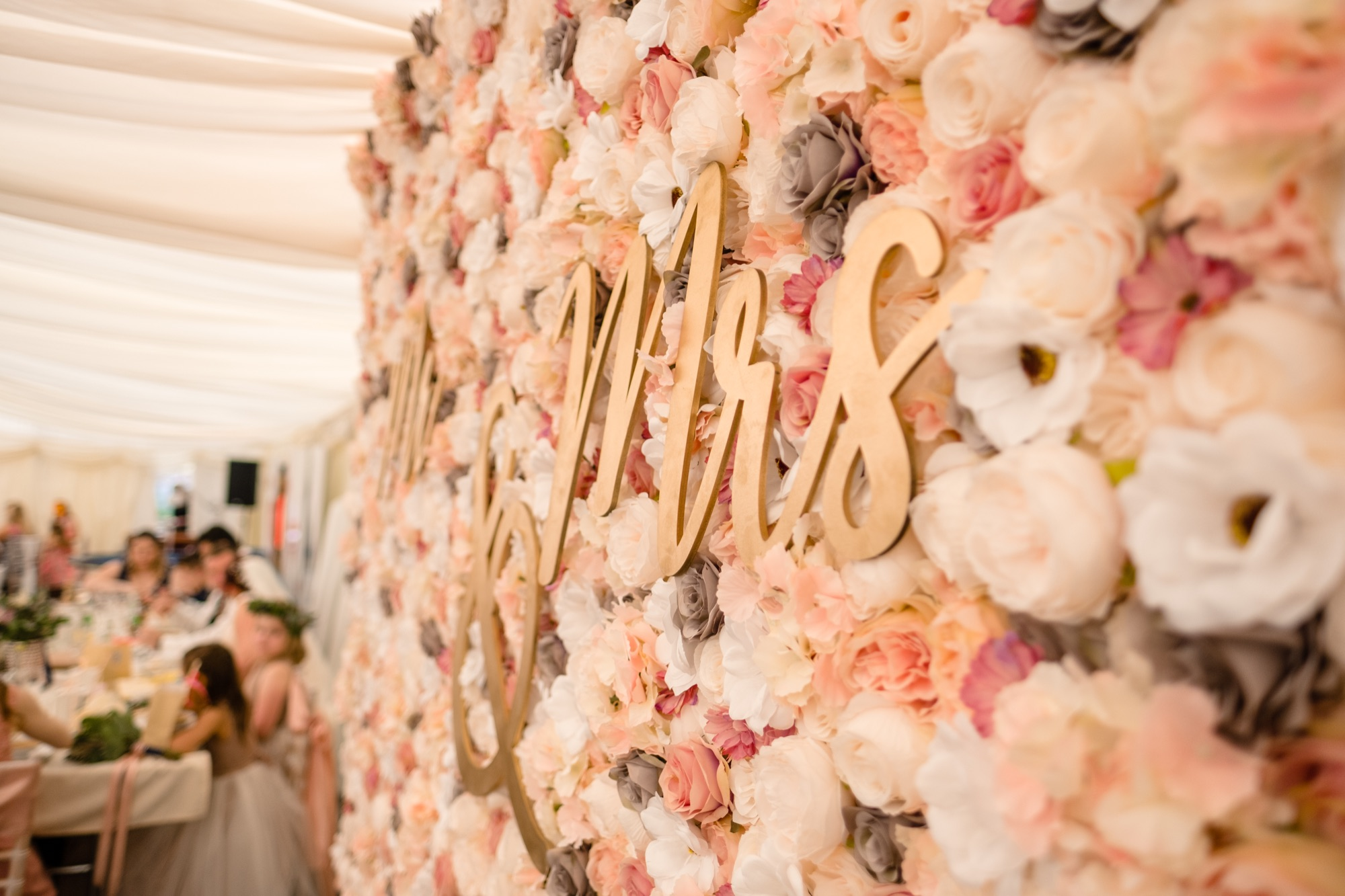 Flower wall wording