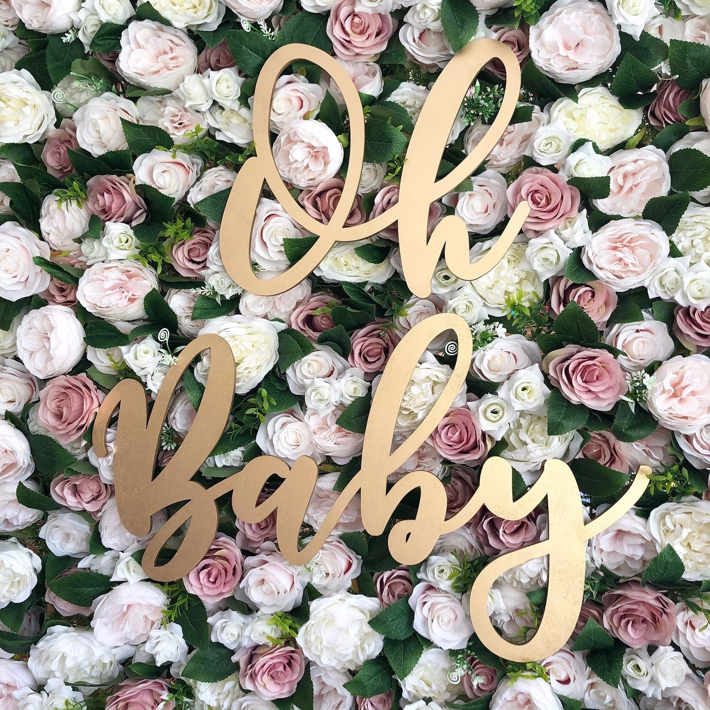 Flower wall sign for baby shower