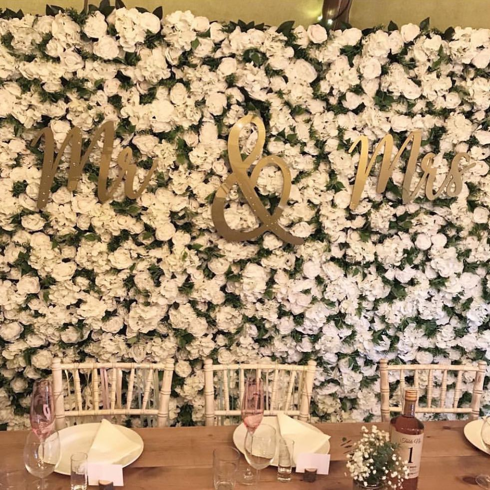 Top table backdrop lettering
