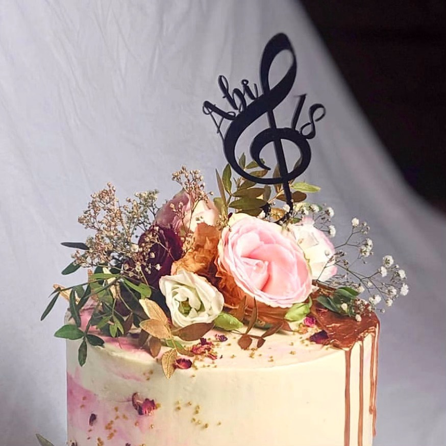 Custom music cake topper