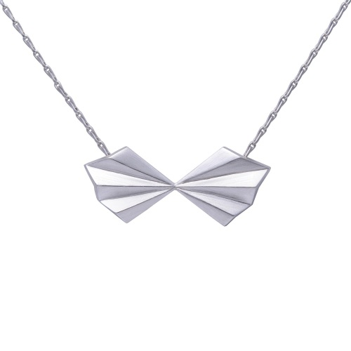 Pleated Bow Necklace