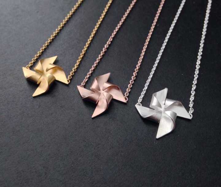 Windmill Necklaces by Alice Barnes