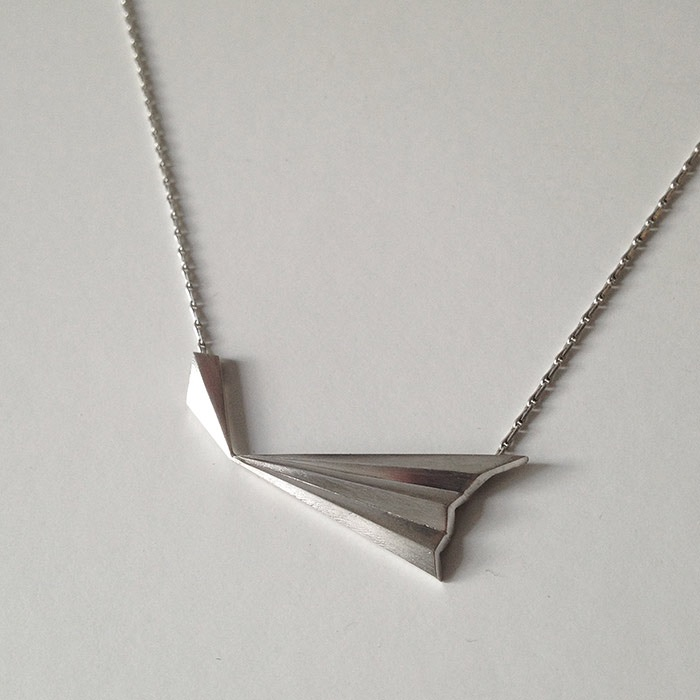 Pleated Prysm Necklace by Alice Barnes Jewellery