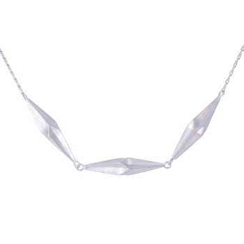 Shard Silver Triplet Necklace