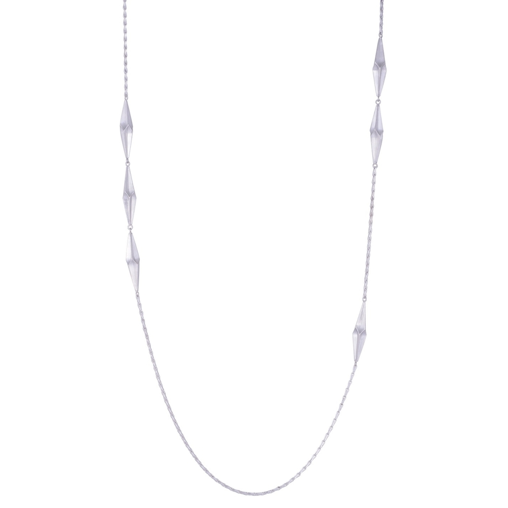 Shard Silver Long Necklace