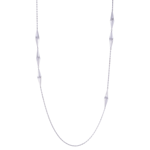 Shard Silver Long Necklace by Alice Barnes