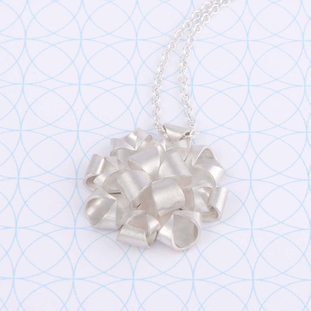 Geometric Rose Necklace