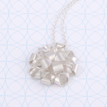 Geometric Rose Necklace
