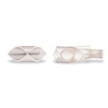 Hex Silver Cufflinks