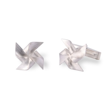 Windmill Silver Cufflinks