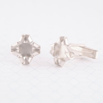 Quatrefoil Silver Cufflinks