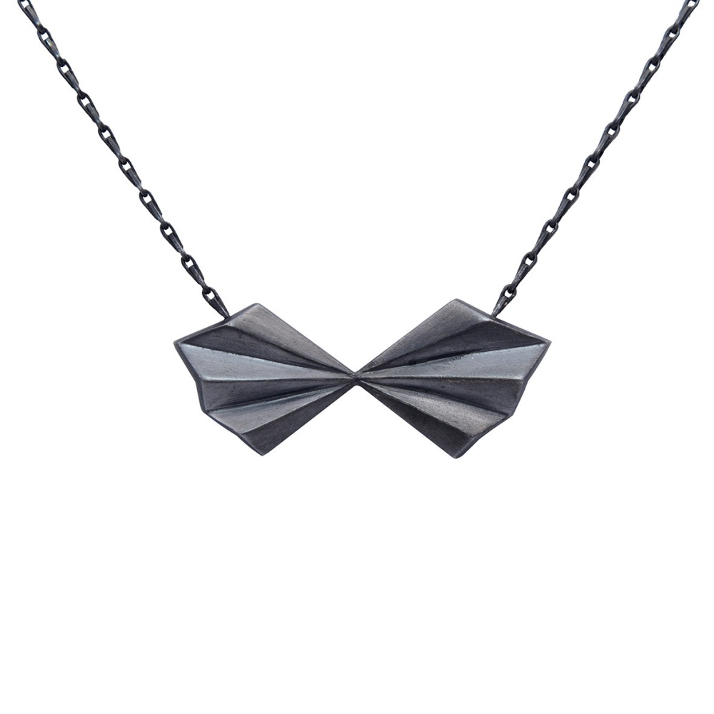Black Bow Necklace by Alice Barnes Jewellery
