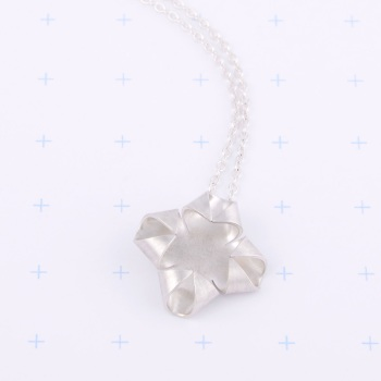 Quatrefoil Silver Necklace