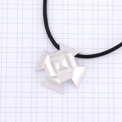 Cross Pattée Leather & Silver Necklace