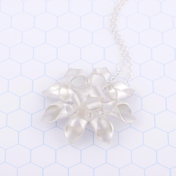 Large Octagram Silver Necklace