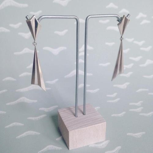 Pleated Drop Earrings