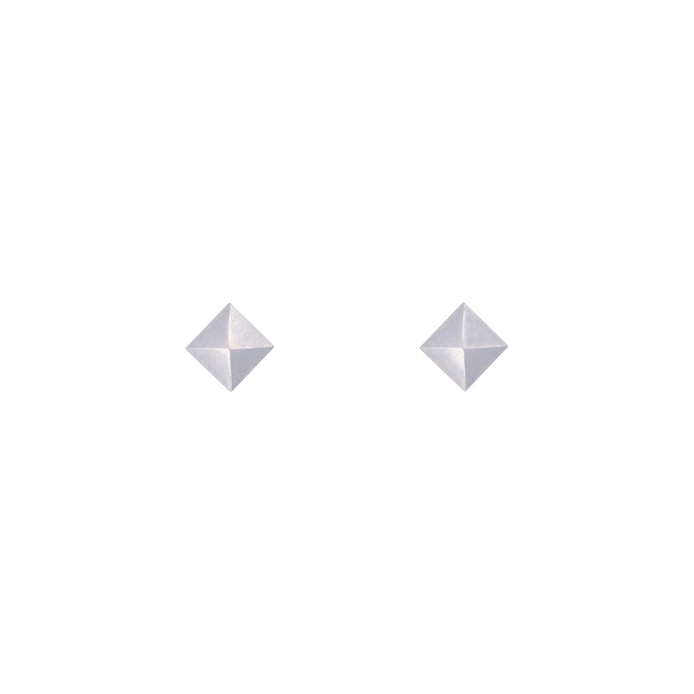 Pyramid Silver Studs in 3 sizes