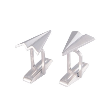 Pleated Paper Plane Cufflinks