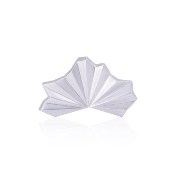 Pleated Silver Fan Ring (plain)