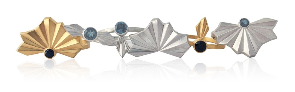 Alice Barnes Pleated Rings