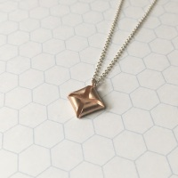 Quad Necklace, rose gold plate