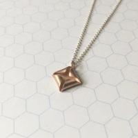 Quad Necklace, rose gold plate